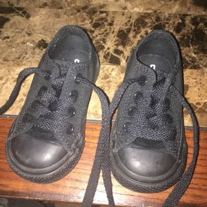 Perfect condition black toddler Converses